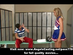delightsome golden-haired legal age teenager