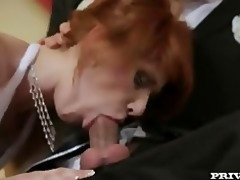 redhead bride double anal