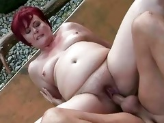 chubby grandma acquires her snatch drilled outdoor