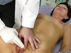 old doctor inspecting a hairy older mama part9