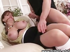 breasty brit poked to engulf