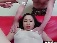 oriental older whore gang gangbang oral