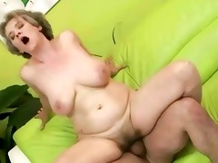 hot grandma enjoys massive cock in her cunt