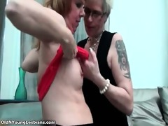 wicked aged woman receives her cum-hole licked