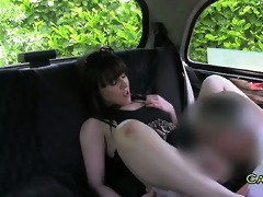 non-professional wife fucked in taxi