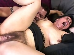 aged hotty enjoys getting her unshaved bawdy