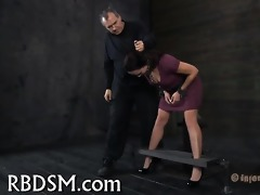 handcuffed up sweetheart is punished