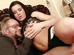grandpa enjoys naughty sex with nice-looking