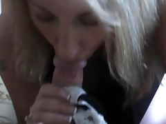 blond mother i wench is a oral-service giving