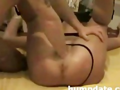 blindfolded wife acquires her vagina fisted