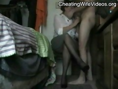 older cheating wife drilled by her younger lover,