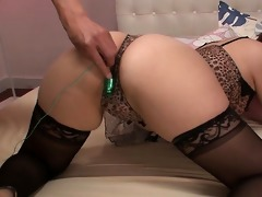gorgeous yurika momo in nylons drilled with sex