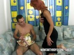 stepmom helps juvenile chap getting hard