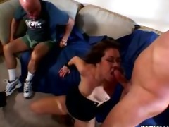 horny mommy acquires group-fucked