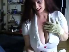 nurse big boobs hand relief