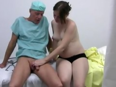 lascivious doctor acquires a tugjob from her
