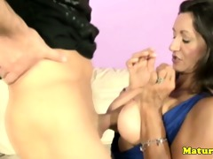 breasty mother i mature jerking penis