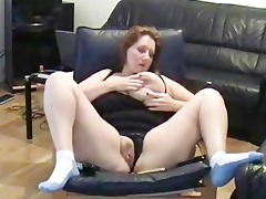 self recorded aged wench masturbating