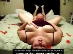 eating big beautiful woman wife pussy