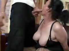 busty black brown granny gets wicked twat pounding