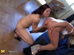 excited housewife playing with a hawt legal age