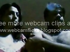 indian wife playing on webcam