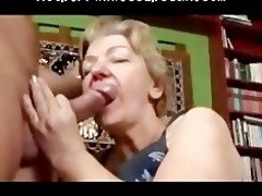 toothless chunky gummy granny oral job and fuck