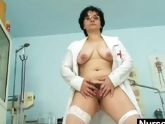 old lady head nurse perverted shaggy muff widening