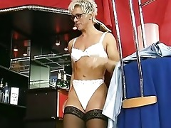 german milf disrobes