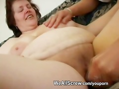 younger boy dildos old womans butt and bonks her