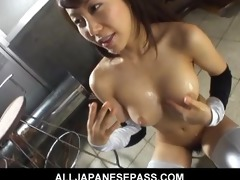 breasty oriental wench acquires obscene by