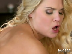 mamma golden-haired mother i copulates her guy