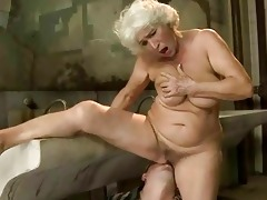 breasty granny receives screwed in public biffy
