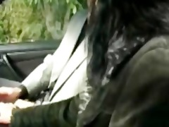 cecile fucked in her car