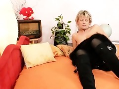 aged older woman dresses dark female-dominator