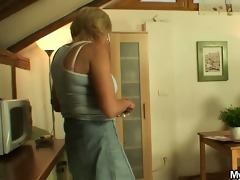 porn loving mother in law takes his knob