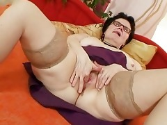 old grandma with glasses fingering unshaved bawdy