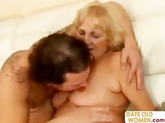 granny open her throat for juvenile sperm