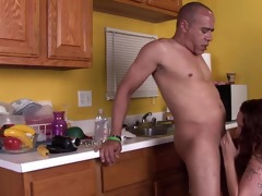 hot bbw-milf hard interracial in the kitchen