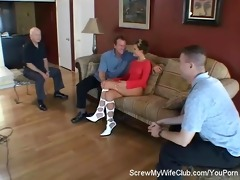 hotwife drilled by stranger, hubby approves!
