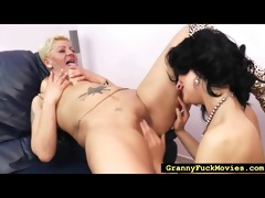 blond granny doxy going lesbo
