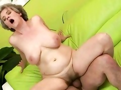 breasty grandma enjoys wicked sex