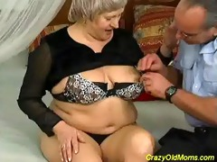 insane old mom receives spunk flow sex