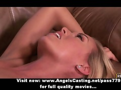 cute blonde with shaggy wet crack having pussy