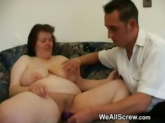 younger boy dildos old womans wazoo and copulates