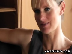nasty amateur milf sucks and bonks with spunk flow
