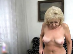 older lesbo golden-haired nanny have fun