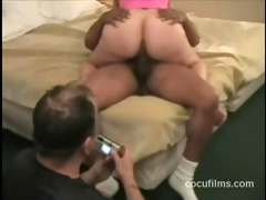 wife riding bbc whilst cuckold hubby watchs