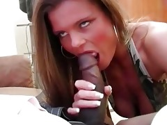 horny golden-haired wench wife slurps on furious