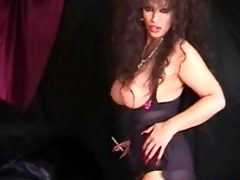 classic breasty cougar smokin and toying